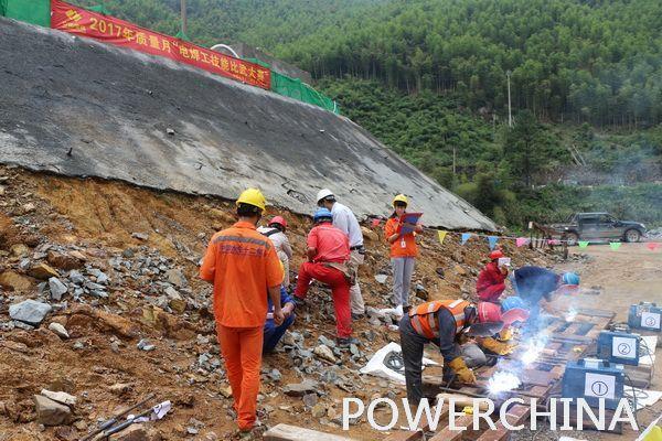 长龙山施工局举办质量月电焊工技能比武