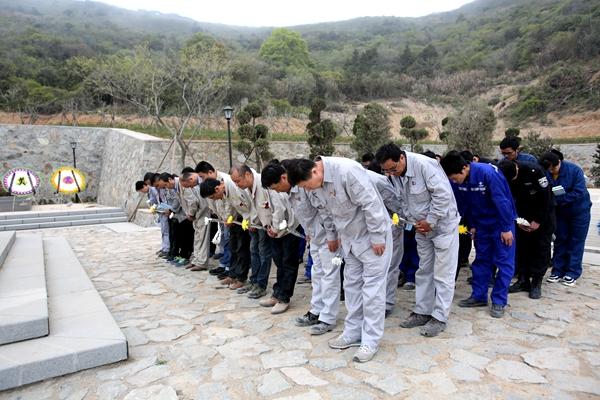 正文     大鱼山烈士纪念陵园位于舟山绿色石化基地建设的鱼山岛,为